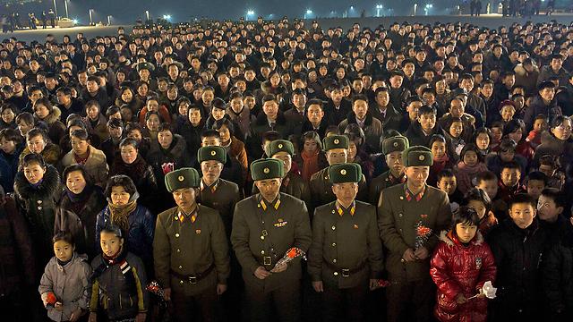 מפגן הכוח בפיונגיאנג (צילום: AP) (צילום: AP)