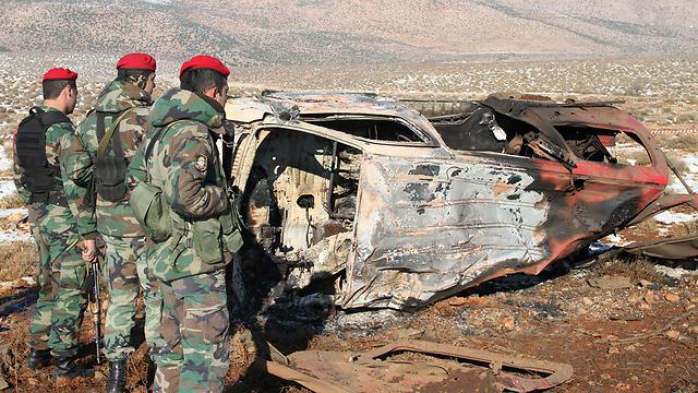 זירת הפיצוץ של מכונית התופת, הבוקר (צילום: AFP)
