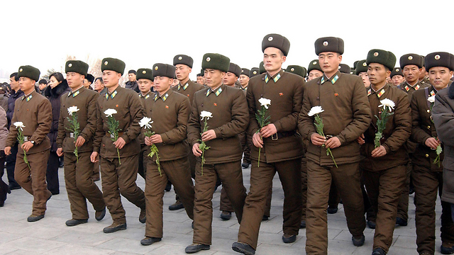 (צילום: AFP  / KCNA VIA KNS) (צילום: AFP  / KCNA VIA KNS)