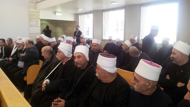 Sheikhs in court (Photo: Hassan Shaalan)