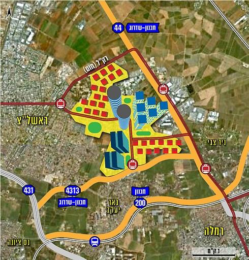 תוכנית פינוי מחנה צריפין (הדמיה באדיבות רשות מקרקעי ישראל) (הדמיה באדיבות רשות מקרקעי ישראל)