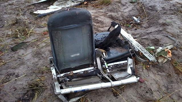 כיסאות המטוס שהתרסק בנמיביה (צילום: AP) (צילום: AP)