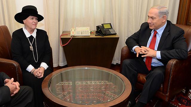 Netanyahu with Pollard's second wife Esther. Netanyahu tried to get Pollard released twice, to no avail. (Photo: Kobi Gideon, GPO) (Photo: GPO)