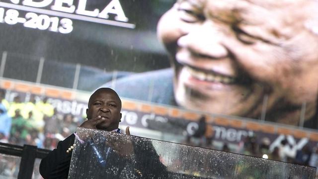 טאמסנקה בהלוויית מנדלה (צילום: AFP)
