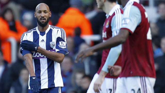 Anelka celebrating with controversial salute (Photo: AFP) (Photo: AFP)