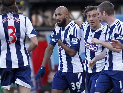 Anelka and the controversial salute (Photo: AFP)