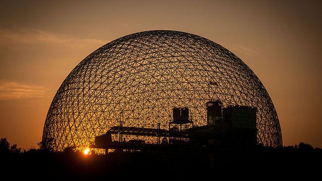 שקיעה יפה בפארק Jean-Drapeau במונטריאול, קנדה (צילום: Guilhermeduartegarcia)