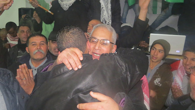 Released prisoners in east Jerusalem, this week (Photo: Hassan Shaalan) (Photo: Hassan Shaalan)
