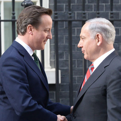 Cameron and Netanyahu. London. (Photo: Amos Ben Gershom)