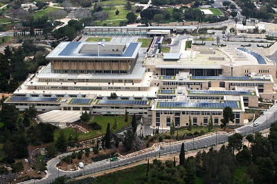 Digital simulation of Knesset with solar panels installed (Photo: Knesset Spokesperson's Office)