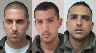 The three main suspects (l-r): Hamadi Taamri, Sami Harimi and Sahada Taamri