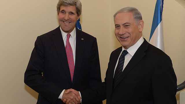 Netanyahu and Kerry, Saturday (Photo: Amos Ben-Gershom, GPO) (Photo: Amos Ben-Gershom, GPO)
