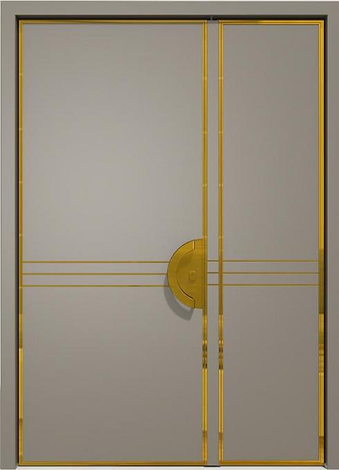 דלת כניסה כנף וחצי בסגנון ארט-דקו (צילום באדיבות רשפים) (צילום באדיבות רשפים)