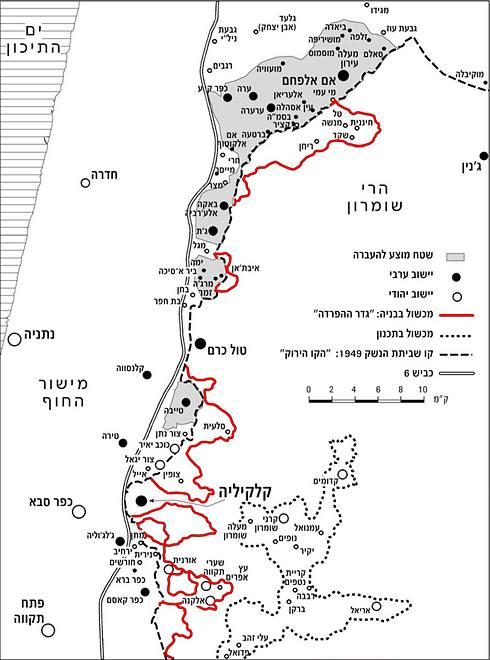 המפה ששרטט אריאלי לפני כשש שנים ()