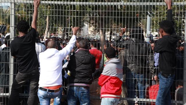 African migrants during protest at south Tel Aviv (Photo: Motti Kimchi) (Photo: Motti Kimchi)