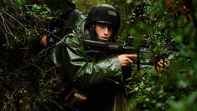 Ultra-Orthodox soliders train in the Netzah Yehuda platoon of the Kfir battalion