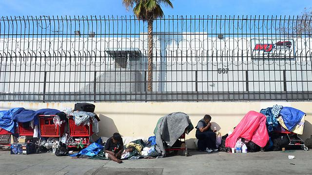 חסרי בית בלוס אנג'לס. מהערים העניות ביותר (צילום: AFP) (צילום: AFP)