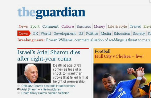The British Guardian newspaper