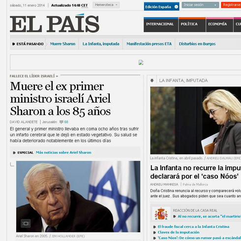 The Spanish newspaper El Pais