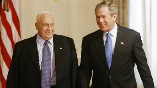 בוש ושרון, 2004 (צילום: רויטרס) (צילום: רויטרס)