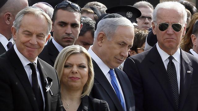 Blair, Sara Netanyahu, Benjamin Netanyahu, Biden (Photo: AFP)
