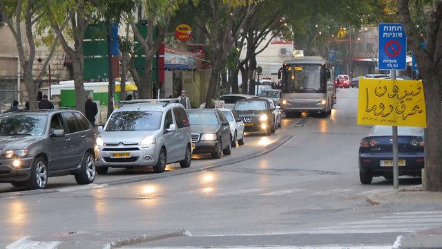 """הכרזות בנצרת. """"סלאם יישאר ראש העיר שלנו"""" (צילום: חסן שעלאן) (צילום: חסן שעלאן)"""