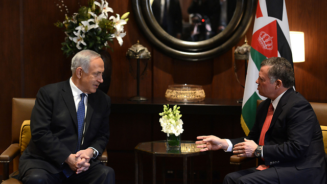 PM Netanyahu meets with King Abdullah (Photo: Kobi Gideon, GPO)
