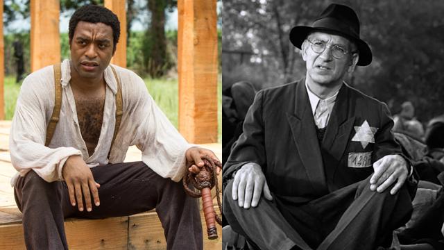 """בן קינגסלי ב""""רשימת שינדלר"""" וצ'ואיטל אג'יופור ב""""12 שנים של עבדות"""". קורבנות ()"""