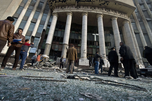 Scene of Friday blast in courthouse (Photo: AFP)