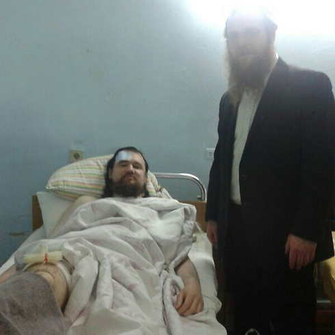 In Russia and Ukraine, expressions of hatred have become an inseparable part of the local Jewish communities' lives. Dov Ber Glickman was stabbed in Kiev about a week ago (Photo: Hatzalah Ukraine)