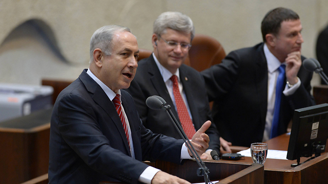 Prime Minister Netanyahu addresses the Knesset (Photo: Amos Ben Gershom, GPO)