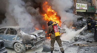 Aftermath of the Beirut blast (Photo: AFP) (Photo: AFP)
