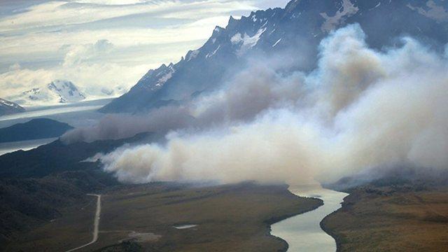 שריפה בטורס דל פאינה, ארכיון (צילום: EPA) (צילום: EPA)