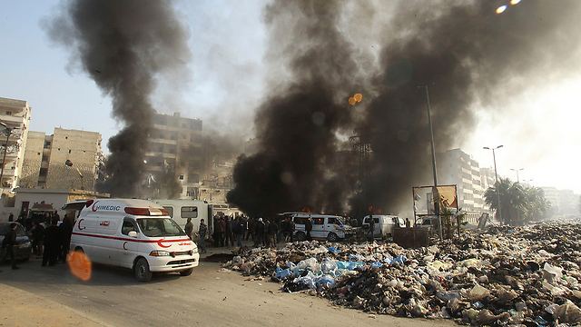 An explosion in Syria (Photo: Reuters)