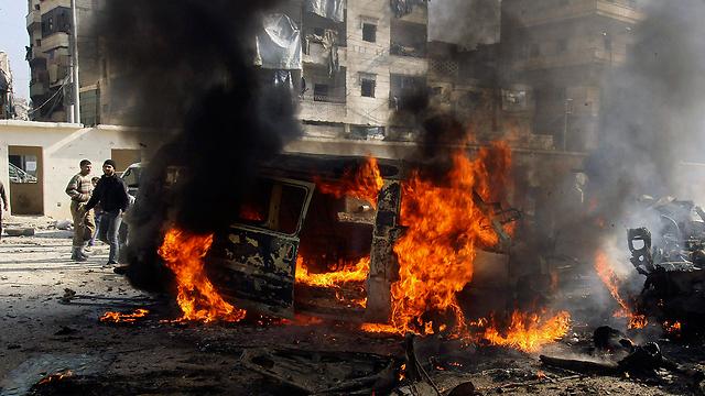 תקיפה לכאורה של כוחות אסד בעיר חלב (צילום: רויטרס) (צילום: רויטרס)