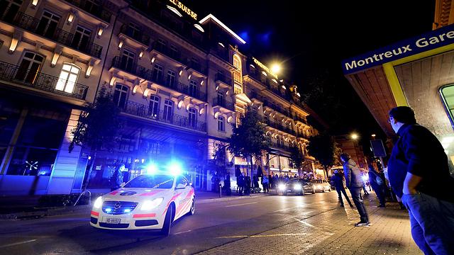 המלון שבו יתקיימו השיחות במונטרה (צילום: AFP) (צילום: AFP)
