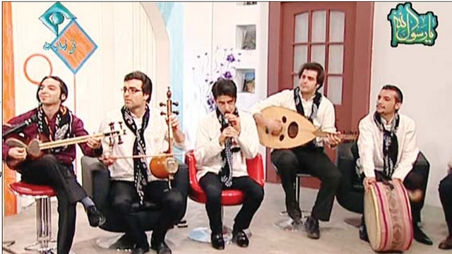 Error in broadcast? Musicians performing on Iranian channel