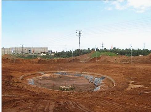 """הביופילטר בבנייה (צילום: ארכיון הצילומים של קק""""ל )"""