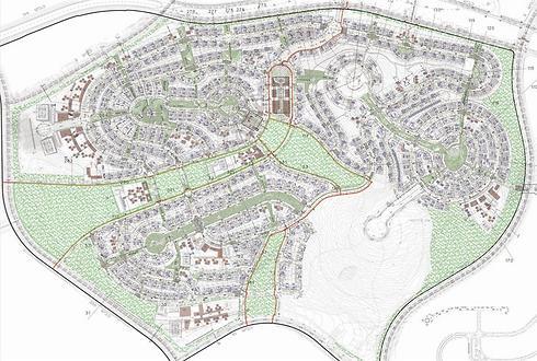 תוכנית פיתוח שכונת גבעת שר (הדמיה: רשות מקרקעי ישראל) (הדמיה: רשות מקרקעי ישראל)