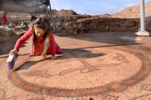 The Byzantine mosaic (Photo: IAA)
