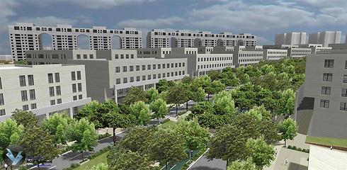 הדמיות המרכז העירוני הראשי החדש (הדמיה: רשות מקרקעי ישראל) (הדמיה: רשות מקרקעי ישראל)