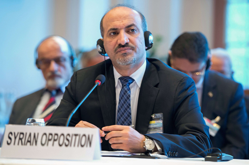 Jabara, head of Syrian opposition delegation (Photo: AFP)