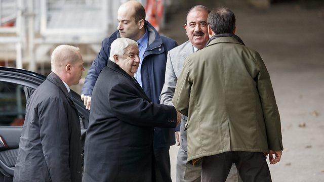 שר החוץ הסורי בז'נבה, היום (צילום: EPA) (צילום: EPA)