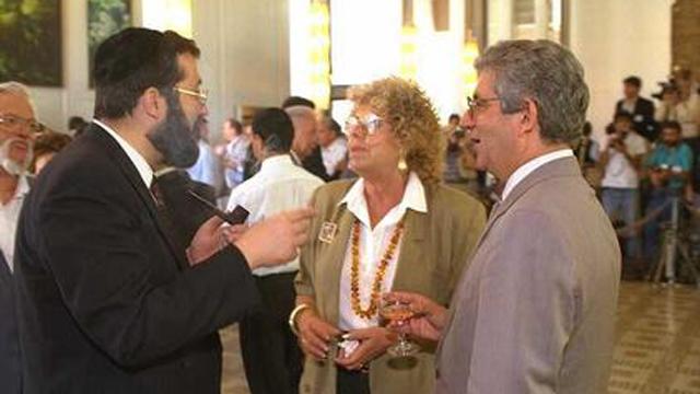 """אלוני, דוד ליבאי (מימין) ואריה דרעי (צילום: פריץ כהן, לע""""מ) (צילום: פריץ כהן, לע"""