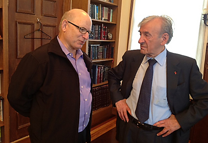 Prof. Elie Wiesel with Dr. Yoel Rappel. 'I thought the memory of the Holocaust would shame those boasting anti-Semitic opinions. I was wrong' (Photo: Dorit Rappel)