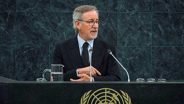 Spielberg addresses UN (Photo: Reuters)