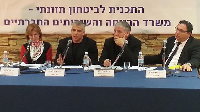 שרי יש עתיד במסיבת העיתונאים (צילום: בראל אפרים) (צילום: בראל אפרים)