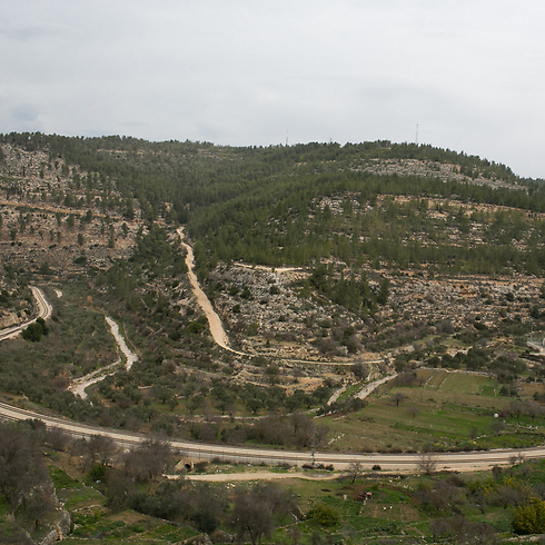 The view from the village (Photo:Ohad Zwigenberg)
