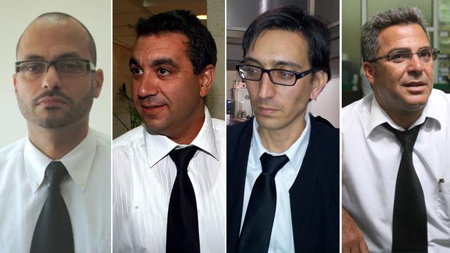 עורכי הדין משה סוחמי, טל ליטן, תמיר סננס ורצון דרחי  (צילום: מוטי קמחי, יריב כץ) (צילום: מוטי קמחי, יריב כץ)