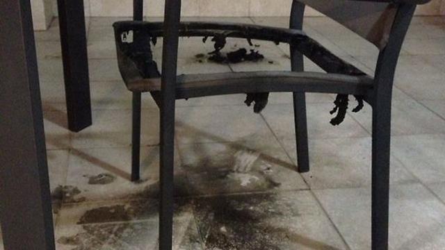 Damage caused to balcony (Photo: Gali Shimoni)